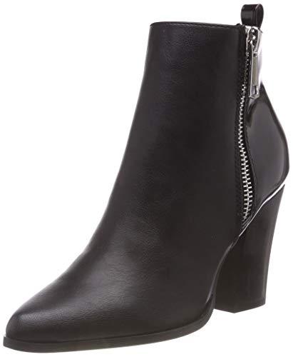 ONLY Damen onlBLUE Zip Heeled Bootie Stiefeletten, Schwarz (Black), 39 EU