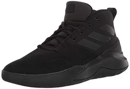 adidas Men's OwnTheGame Basketball Shoe, Black/Black/Black, 11 Medium US