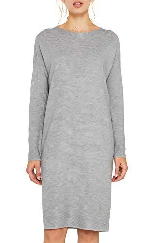 ESPRIT Damen 109Ee1E003 Kleid, Grau (Medium Grey 5 039), Small (Herstellergröße: S)