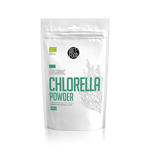 Clorella Bio in Polvere | Super Chlorella Diet-Food | Alga Chlorella Bio | Ideale per Dieta Disintossicante | Integratore Antiossidante Naturale | Polvere 200g