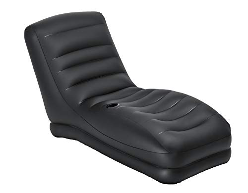 INTEX Sillón Hinchable Mega Lounge, 86 x 170 x 94 cm, Color Negro, Vi