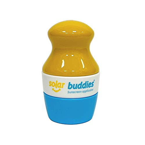 Solar Buddies Refillable Roll On Sunscreen Suncream Lotion Sponge Applicator For Kids, Adults, Families, Travel Size Holds 100ml Travel Friendly (Blue)