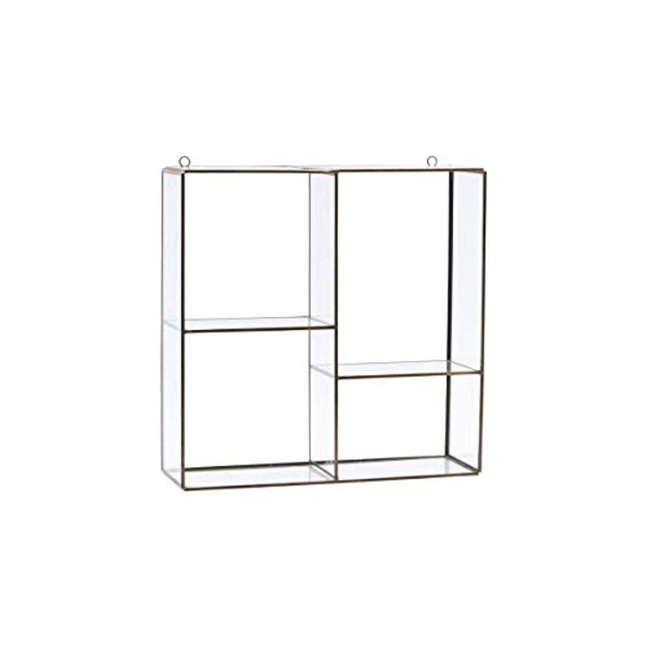 House Doctor Hanging Rack Keeper 4 Rooms, Brass Plated, 33 x 11 cm