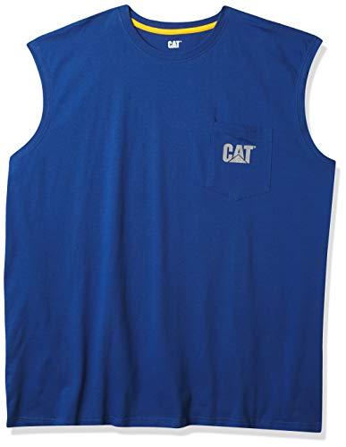 Caterpillar Men's Classic Fit Sleeveless T-Shirt, Bright Blue, X-Large