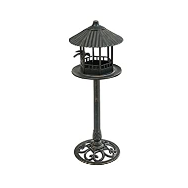 Sunjoy Accent Decor Cast Aluminum & Steel Bird Feeder