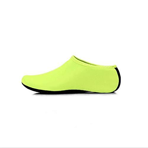 ACHICOO - Calcetines Antideslizantes para natación, Surf, Yoga, Ejercicio, al Aire Libre, Amarillo Fluorescente, XL 42-43
