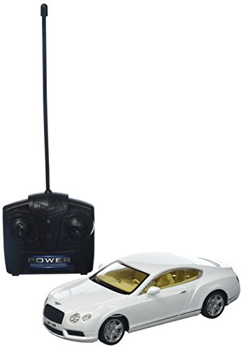 Braha Full Function Remote Control 1:24 Scale - White Bentley Continental GT, White