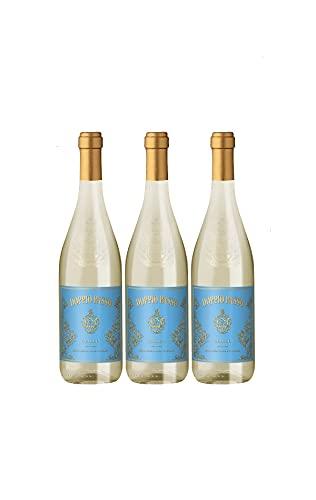 Doppio Passo Grillo Sicilia Weißwein italiensicher Wein halbtrocken DOC Italien (3 Flaschen)