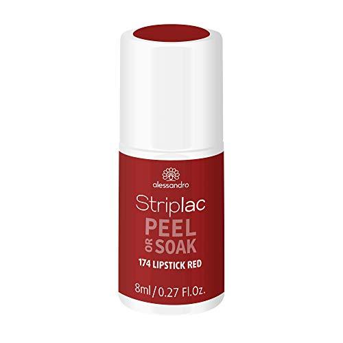 alessandro Striplac Peel or Soak - LIPSTICK RED - LED-Nagellack in Dunkelrot - Für perfekte Nägel in 15 Minuten, 8ml