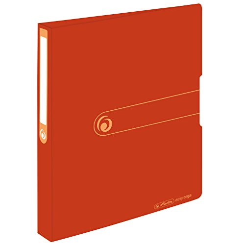 Herlitz 11282712 Recycling-Ringbuch, A4, 2 Ring-Kombi-Mechanik, 3,8 cm Rücken, Füllhöhe 25 mm, orange