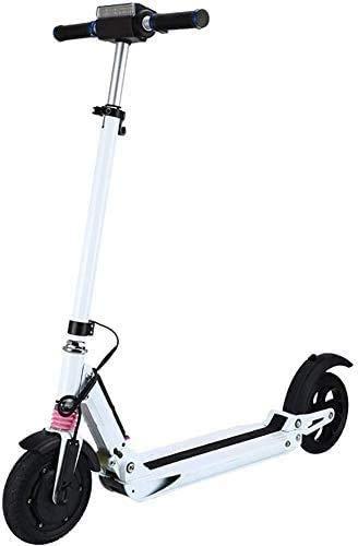 XINHUI Faltender elektrischer Roller, 250W 10AH / 8 Zoll Reifen, maximale Last 120kg, tragbarer Motorroller, Outdoor-Outdoor-Nutzung/Tagesbüro,Weiß