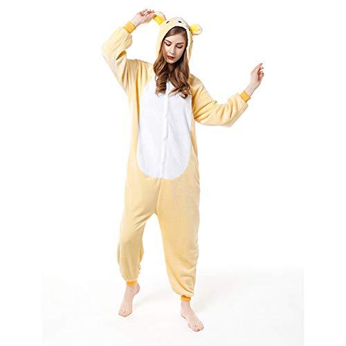 HUINI Unisex Pijamas para Adultos Disfraz de Halloween Animal Cosplay Pyjamas Capucha Traje Festival de Carnaval Onesies Ropa de Dormir M