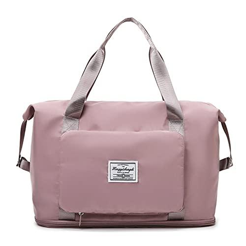 Borsa da viaggio pieghevole di grande capacità, borsa a tracolla Oxford impermeabile, borsa da palestra espandibile borsa da spiaggia unisex