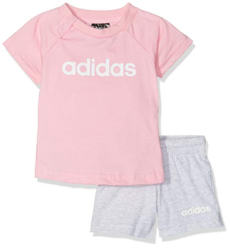 adidas I Lin Sum Set Chándal, Unisex bebé, Rosa (rossua/Blanco), 86