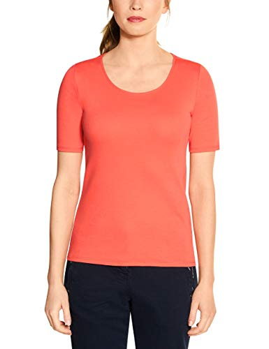 Cecil Damen 311780 Lena T-Shirt, Tangerine orange, XX-Large