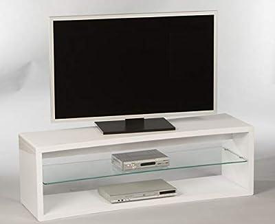 Karkasse in Wei/ß Matt//Front in Bordeaux Hochglanz ExtremeFurniture T31-100 TV Lowboard