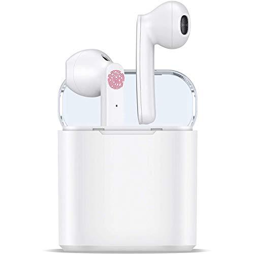 In Ear Kopfhörer Bluetooth Ohrhörer 5.0 [2020 Neues Upgrade] Kopfhörer Kabellos Sport mit Mikrofon Wireless Ohrhörer, IPX7 Wasserdicht, Auto Pairing Touch TWS für Android/iPhone/Samsung/Huawei