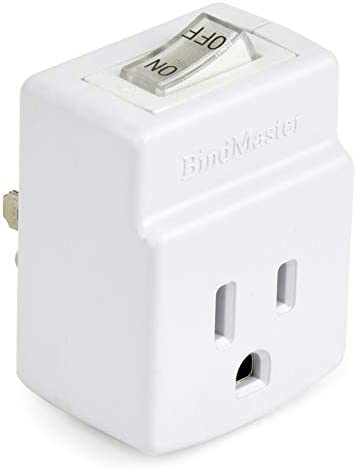BindMaster 3 Prong Grounded Single Port Power Adapter with Indicator On Off Switch 1 Pack product image