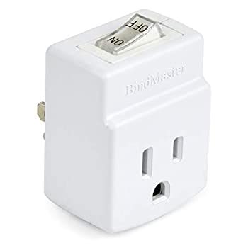 BindMaster 3 Prong Grounded Single Port Power Adapter with Indicator On/Off Switch  1 Pack