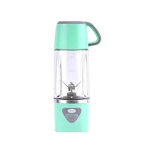 ZLJ Licuadora portátil, Mini batidora eléctrica de 600 ml, licuadora de Jugo Recargable con USB, para jugos de Frutas y Verduras, Ensalada, Sopa, Comida para bebés, Verde