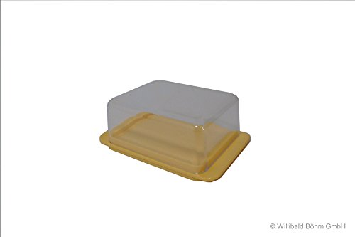 Butterdose pastell-gelb - Sonja-PLASTIC - Made in Germany