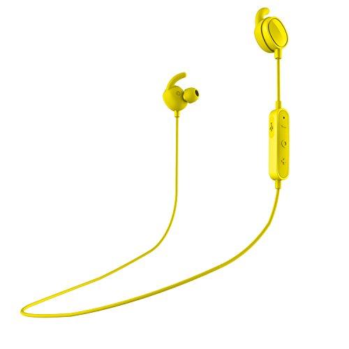SPC Stork Auriculares inalambricos (Manos Libres, Control Remoto de la música, micrófono incroporado), Color Amarillo