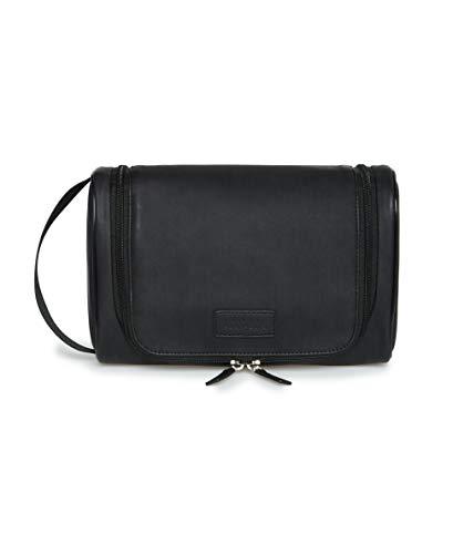 Perry Ellis Kit de viaje con mango lateral para hombre, color negro, talla única