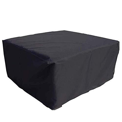 QIAOH Funda para Muebles De Jardín Exterior 200x200x80cm, Funda Mesa Jardin Impermeable, Anti-UV a Prueba De Viento, Lluvia Y Nieve Paño Cubierta De Mesa De Jardín para Patio