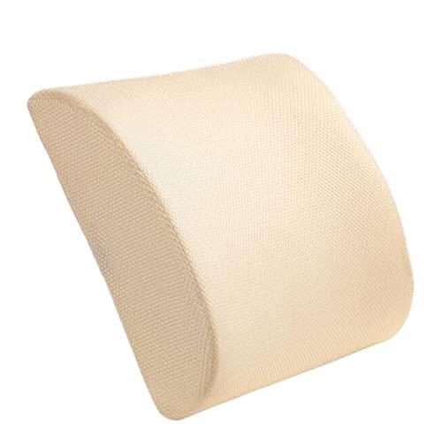 MEILIJIE XIAOXU MIN Cojín Lumbar Cojín Soporte Almohada Cojín Atrás Almohada Memoria Algodón Soporte Lumbar para sillas de Oficina en el hogar Relieve PAI (Color Name : White)