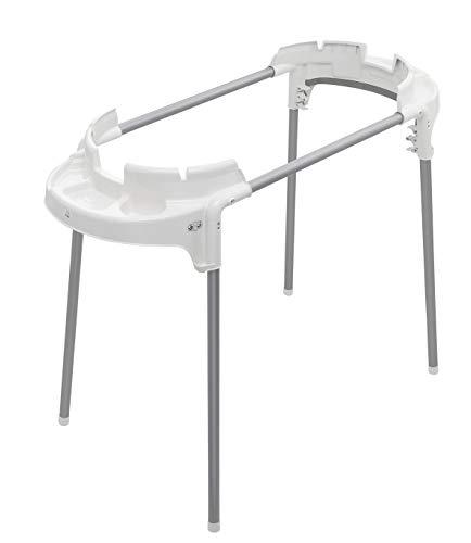 Rotho Babydesign TOPXtra Support de baignoire fonctionnel, Pliable et réglable en hauteur, Pour baignoires TOPXtra, Charge max. 60 kg, 129 x 101 x 51,5 cm, Blanc, 20501
