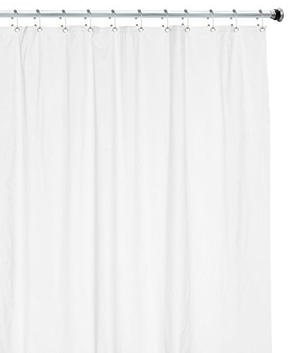 Utopia Bedding 6 Gauge PEVA Shower Curtain Liner White, 72 by 72 Inches, Mildew Resistant, Antimicrobial, Eco Friendly with Anti Corrosion Grommets