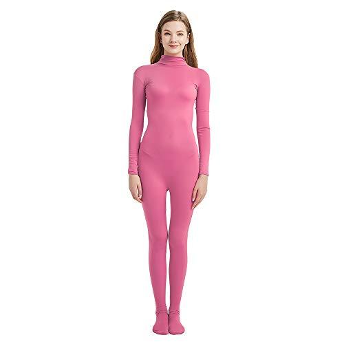 Toptie Zentai Einteiler für Erwachsene und Kinder, Halloween-Kostüm, Catsuit, Pink