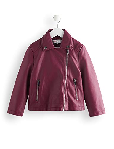 Amazon-Marke: RED WAGON Mädchen Jacke Zip Through Popper Biker, Violett (Purple), 116, Label:6 Years