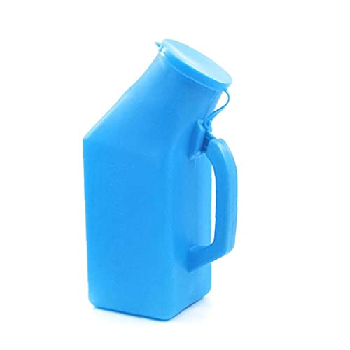 Männlich tragbare Urinal Pee Flaschen Startseite Urinal Potty Thick Firma Urinflasche mit Deckel für Männer 1L Blau
