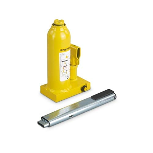 Enerpac GBJ005A Hydraulic Industrial Bottle Jack   5 Ton Capacity   5.91 Inch Stroke   Overload Safety Relief Valve