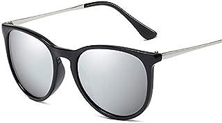 NALANDA Polarized Aviator Sunglasses With UV400 Mirrored Lens Metal PC Frame, Mens Womens Glasses For Outdoor Travel Driving Daily Use Etc.(Black & Silver-4171)