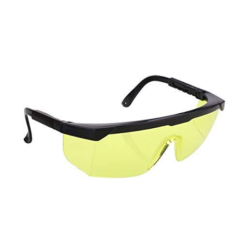 Greatangle Gafas de Seguridad láser Protección Ocular para IPL/E-Light Depilación Gafas Protectoras de Seguridad Gafas universales Gafas Amarillas