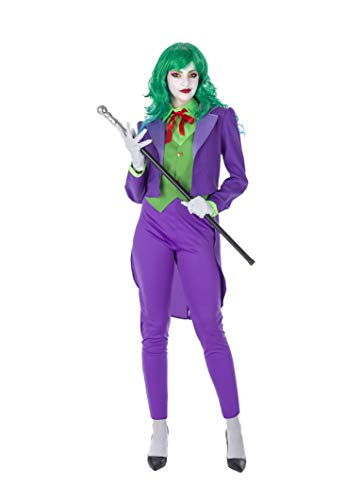 Banyant Toys Disfraz Bufon Malvado Mujer Mujer: M-L