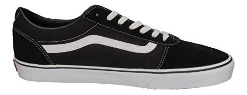 Vans Ward Canvas, Zapatillas Hombre, Negro ((Suede/Canvas) Black/White C4R), 40 EU