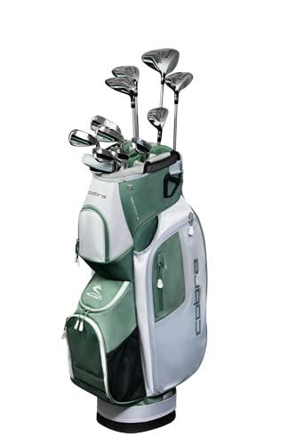 Cobra Golf 2021 Fly XL Complete Set Cart Bag Black-Olive (Women's Right Hand, Graphite Woods-Graphite Irons, Ladies Flex, DR-12.5, 3W-18.5, 5W-21.5, 7W-24.5, 5H-23.5, 6-PW, SW, Putter, Cart Bag)