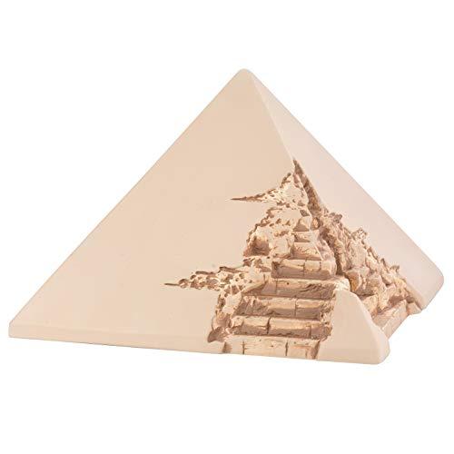 One of kind Urne funéraire pyramide pour cendres adultes, Céramique, White Plain, Size: 10.2\