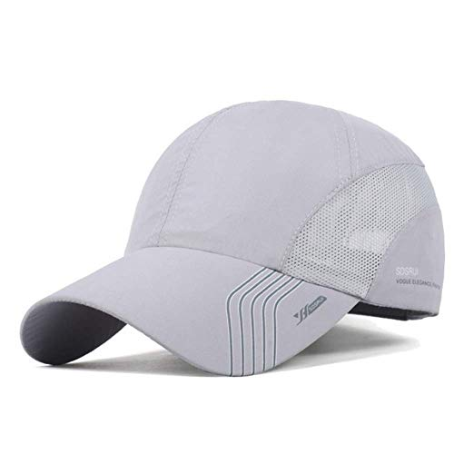 Clape Sun Visor Hats Sports Hat Baseball HatsUPF50+ Outdoor Lightweight Waterproof Breathable Ultra Thin Cooling Cap Light Gray
