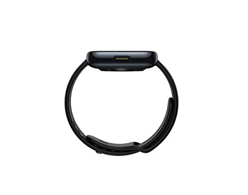 (Renewed) realme Fashion Thermo Plastic Polyurethane Black Strap Watch
