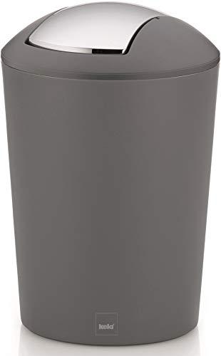 kela Schwingdeckeleimer, Kunststoff, Grau, 5 Liter