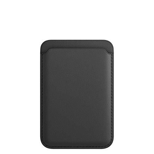 Magsafe - Tarjetero magnético para iPhone 12 Mini/Pro/Max de piel auténtica