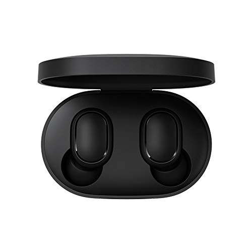 Xiaomi Mi True Wireless Earbuds Basic, TWS Wireless Bluetooth 5.0 Headphones Charging Box True Stereo Sound Wireless Bluetooth Headphones with Microphone Hands-Free Headphones AI Control nero