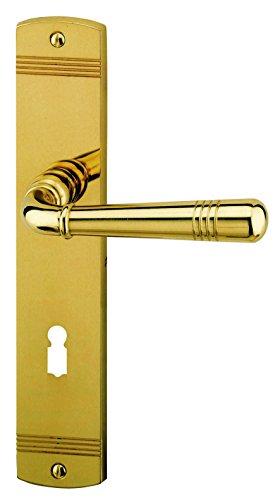 Alpertec 32700013 Sale-LS Messing poliert für Zimmertüren Drückergarnitur Türdrücker Türbeschläge Neu