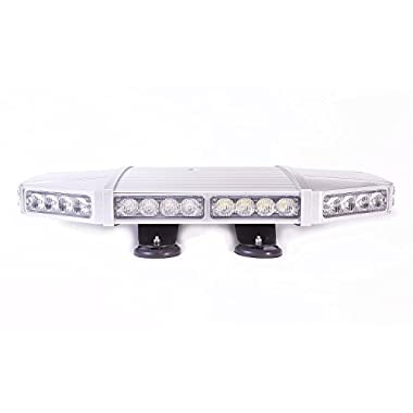 Falcon Flight Emergency 3 watt Low Profile Magnetic Roof Mount Mini LED Light Bar 18 in (Red/White)