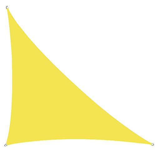 MJJYS Sombrilla de sombrilla, Triangle West Impermeable y Tarpa de UV, para jardín Exterior terraza con Cuerda,3 * 3 * 4.3m