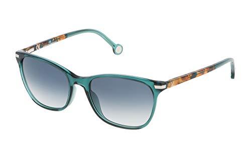 Carolina Herrera SHE652V540874 Occhiali da Sole, Verde, 54 Donna